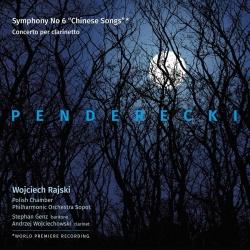 "Kansikuva Penderecki, Krzysztof: Symphony no 6 ""Chinese songs"" ; Concerto for clarinet"