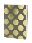 MUISTIKIRJA / GOSTATIONERY A5 5PN406A SHIMMER LARGE GOLD POLKA TAUPE